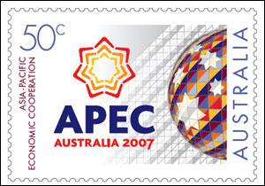 澳大利亚28日发行APEC纪念邮票(图)