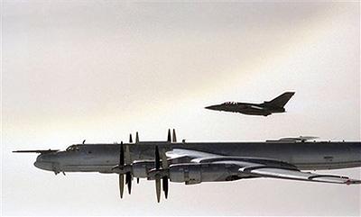 英国称拦截8架逼近英领空俄罗斯轰炸机