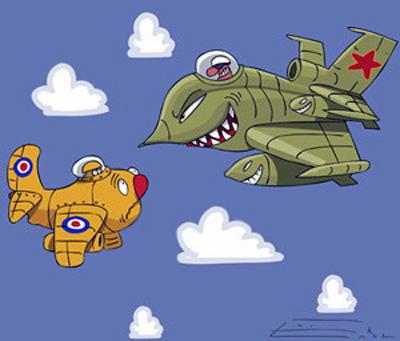 北约派出20架歼击机拦截俄8架轰炸机(图)