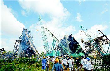 越南一座在建大桥坍塌