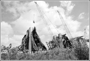 越南在建大桥坍塌