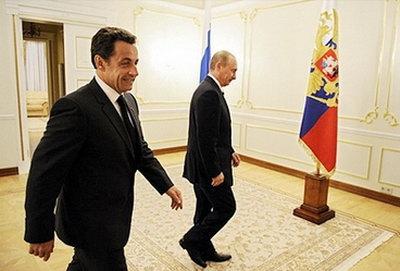 萨科齐就任法国总统后首次访俄(组图)