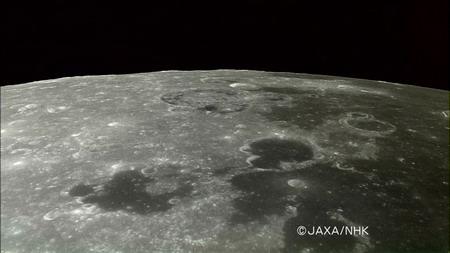 日本公开月亮女神卫星所拍月球表面照片(图)