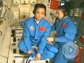 太空第一课:聂海胜悬空打坐