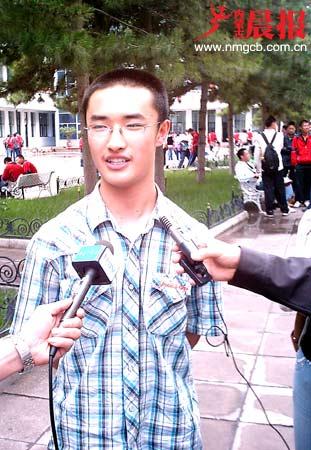 专访内蒙古07年高考文理科状元(图)