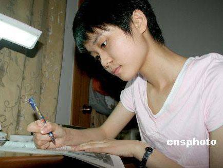 2007年安徽省高考理科状元吴羽菲总分709(图)