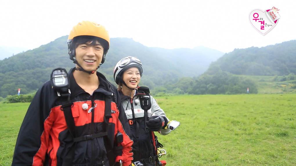 《我们结婚了4》张佑荣朴世英挑战滑翔伞
