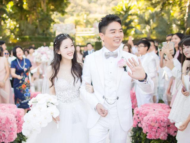 曝刘强东奶茶妹婚礼照