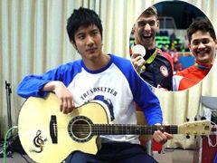 王力宏祝贺新加坡选手