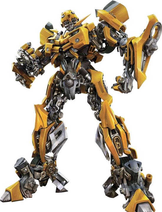 资料图片:《变形金刚》造型图汽车人大黄蜂