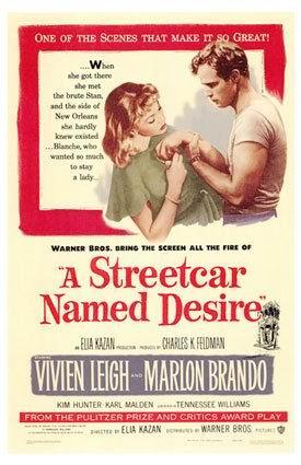 资料图片:经典电影《欲望号街车》海报
