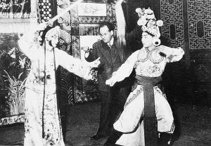 资料图片:梅兰芳老照片--梅兰芳在苏联演出照