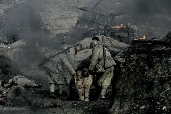资料图片:《集结号》剧照-残酷的战争