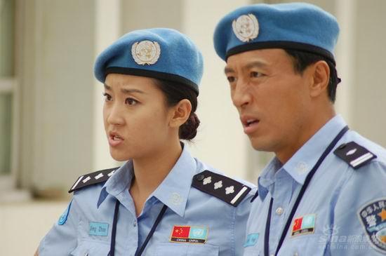 资料图片:《中国维和警察》--王洛勇饰演冯力伟