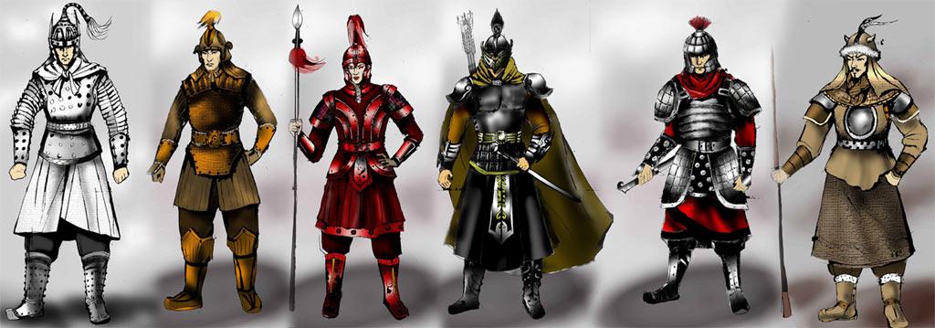 资料图片:新《三国演义》服装设计图