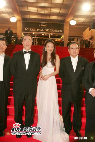 组图:《铁三角》戛纳首映舒淇为三大导演捧场