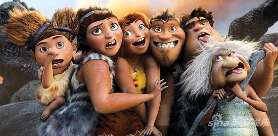 上映不久的动画片《疯狂原始人/克鲁德一家》图片