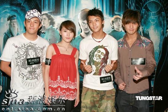 组图:蔡少芬助阵《哈利-波特5》香港首映礼