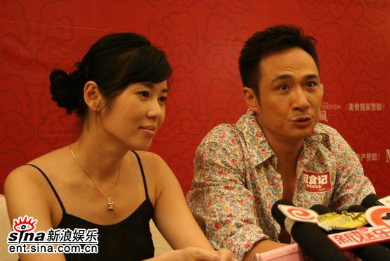 图文:《双食记》重庆开机--余男与吴镇宇