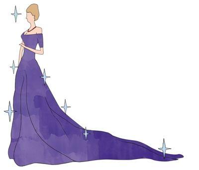 卡通晚礼服素材