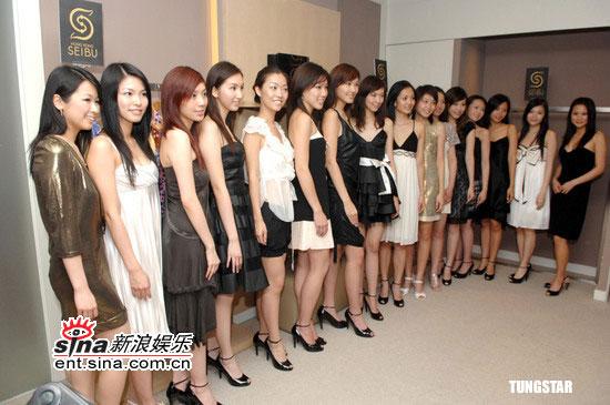 组图:16港姐试晚装多数腰短脚长胸部平均B杯