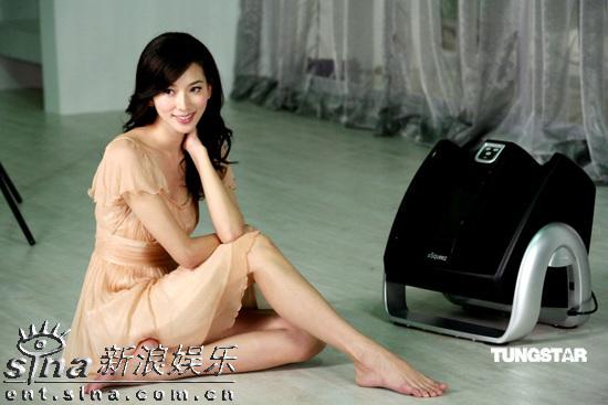 组图:林志玲代言美容品牌明艳动人秀性感美腿