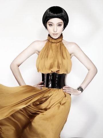 组图:范冰冰写真大秀香肩造型美艳性感媚惑