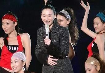 张柏芝产后首次登台夫妻唱四首歌赚一百万(图)