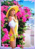 组图:滨崎步2008炫彩月历变身甜美童话公主
