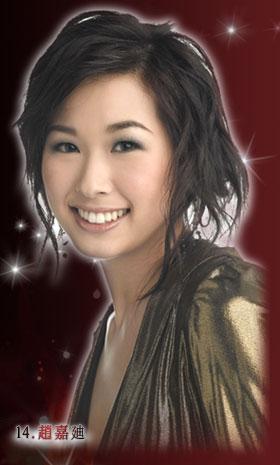 资料:2007香港小姐候选佳丽--14号赵嘉迪
