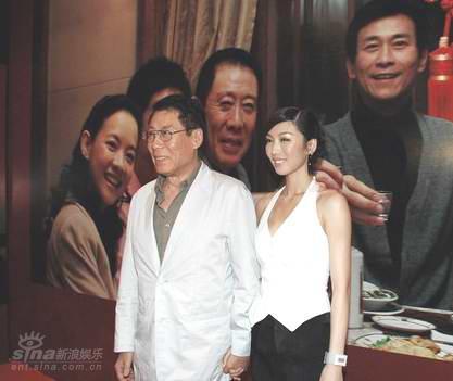 图文:《荣归》发布会--焦晃徐菁遥合影