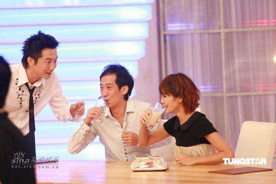 图文:《味分高下》录影--达明和蔡卓妍