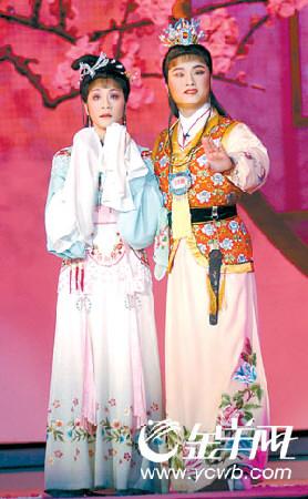 上图:赵志刚(右)、方亚芬合演越剧《红楼梦》-戏曲绝活震全场 名