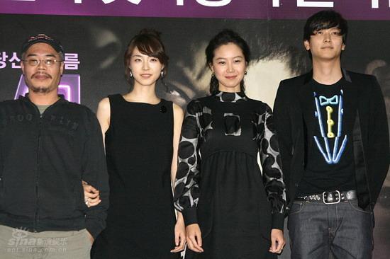 图文:《M》首映记者会--导演和三主演