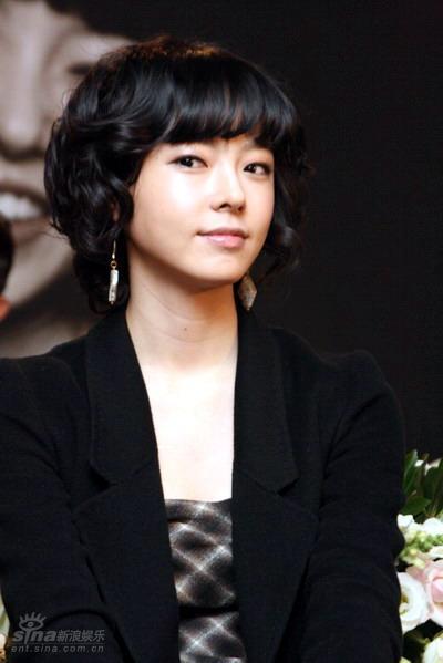 图文:韩剧《我爱你》发布会--朴惠英蓬蓬发型