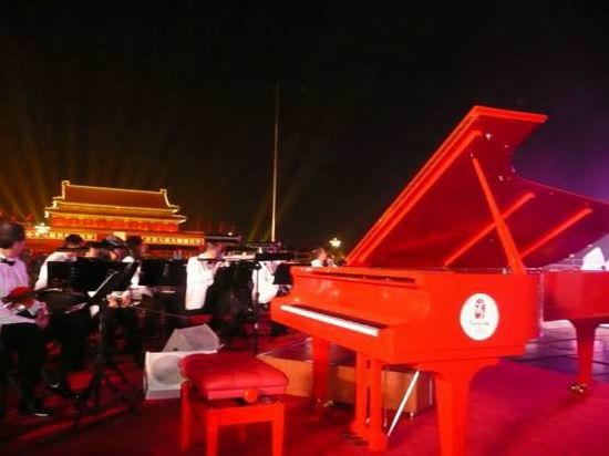 郎朗坐镇奥运周年倒数庆典天安门奏响乐章(图)