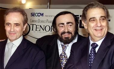 资料图片:世界三大男高音个唱家合影