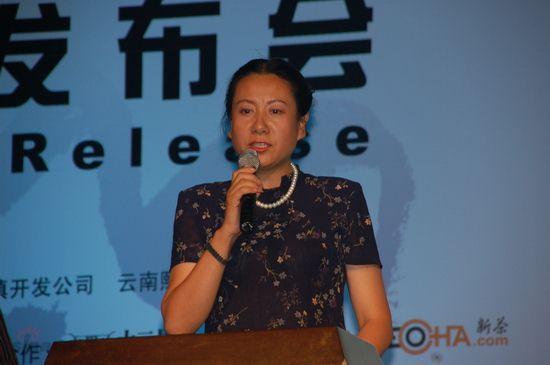 图文:丽江副市长杨一奔出席雪山音乐节发布会