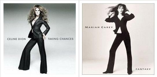 组图:席琳-迪翁被嘲拷贝玛丽亚-凯莉旧造型