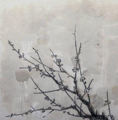 《病梅 》,200×200cm ,2011年,布面丙烯