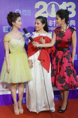 2013时尚大典李晟、兰玉携手红毯