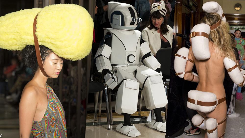 """看不懂的伦敦时装周又来了 头顶""""寿司""""走秀了解下?"""