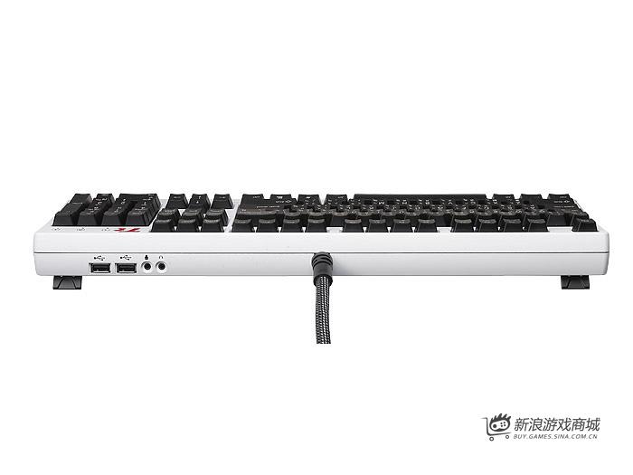 曜越Ttesports拓荒者G1白色版KB-MEG005USC01电竞键盘