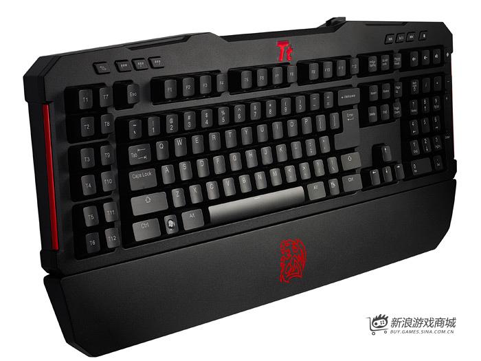 曜越Ttesports拓荒者G-UNIT(红轴)KB-MGU006USH电竞键盘
