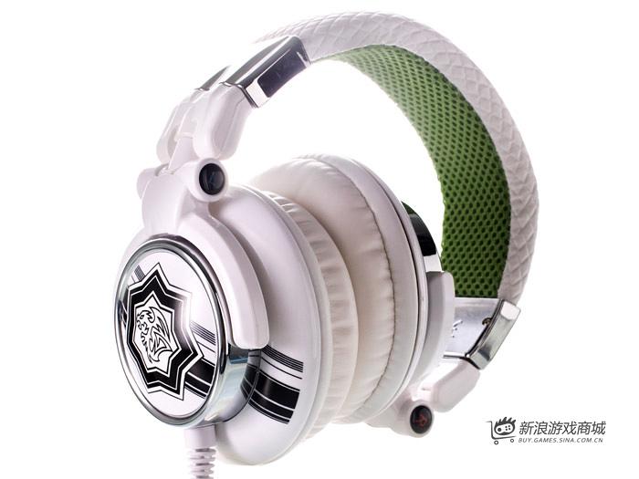曜越Ttesports 潮傳奇 HT-DRA007OEWHCN 电竞耳机(白色)