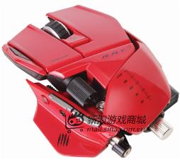 美加狮 R.A.T.9 赤魔版 双眼无线激光游戏鼠标