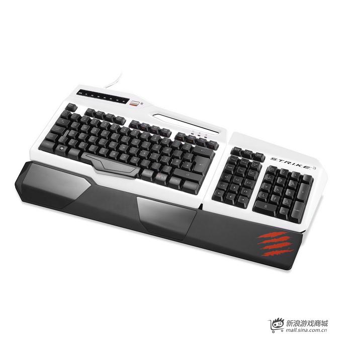 美加狮 S.T.R.I.K.E.3 雪妖版 终结者可编程背光游戏键盘