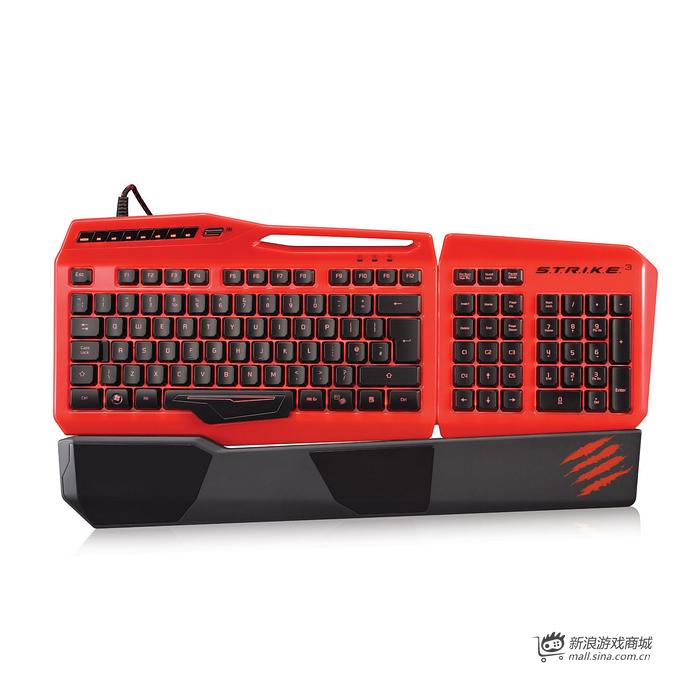 美加狮 S.T.R.I.K.E.3 赤魔版 终结者可编程背光游戏键盘