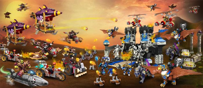 死亡之翼突袭暴风城 Mega Bloks 积木玩具