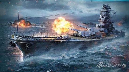 世界》此次宣传片主要展示了战舰与战机之间的激战场面,弹投大海水浪
